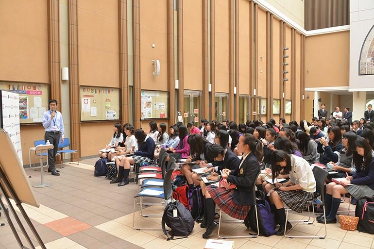 玉川学園|SGHのグローバルキャリア講座では国際機関で働く方の講義を聞くことができる